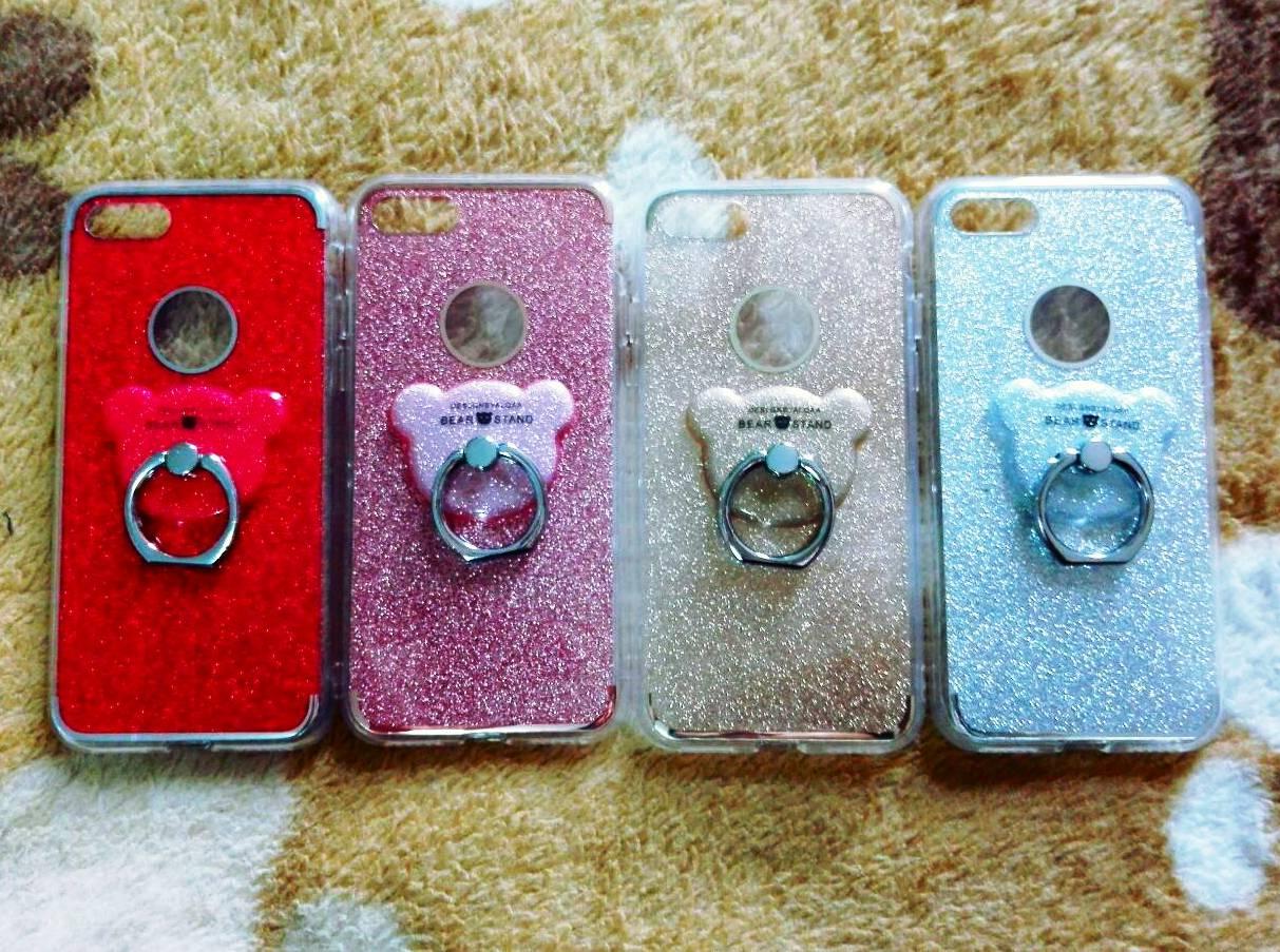 TPU กากเพชร (มีเเหวนตั้งได้) iphone7/iphone8(ใช้เคสตัวเดียวกัน)