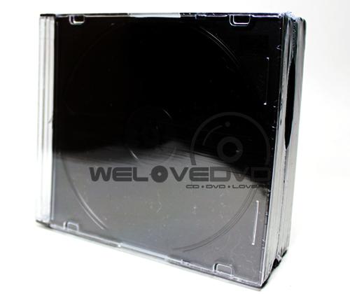 1 CD Slim Jewel Case Black (10 pcs)
