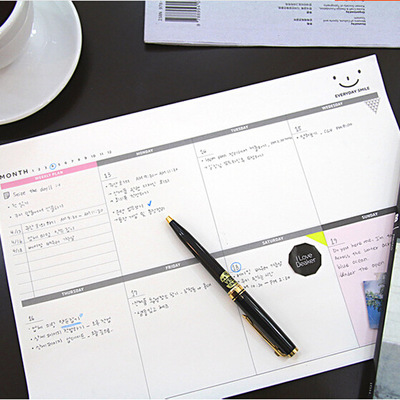 A4 WEEKLY Desk note Pad