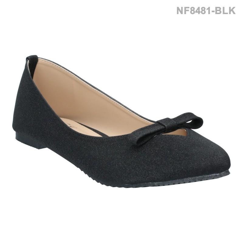 ลดล้างสต๊อก รองเท้าส้นแบน NF8481-BLK [สีดำ]