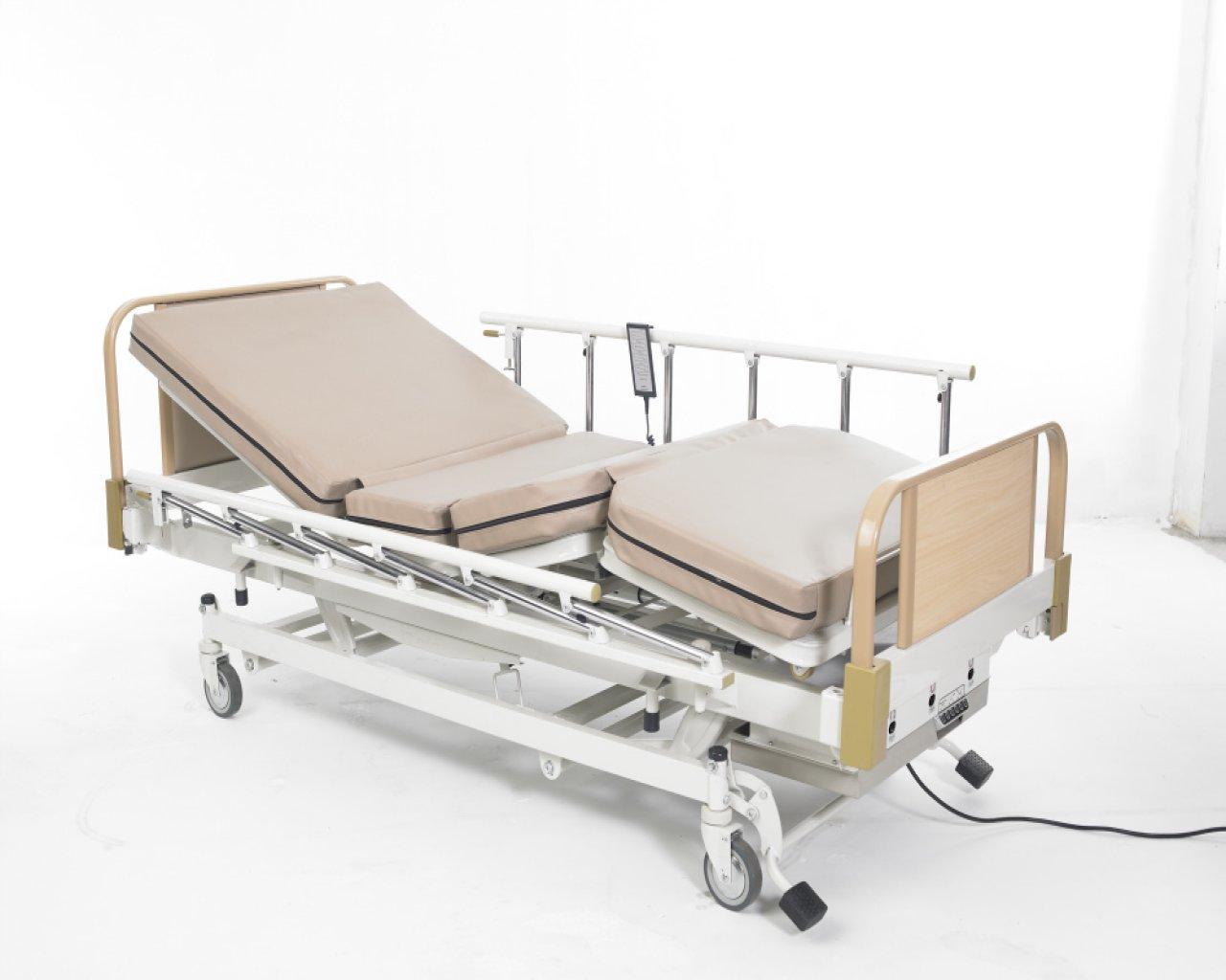 เตียงไฟฟ้า 3 ไกร์ 3 ระบบ (ไฟฟ้า,แบตฯ,มือหมุน) แบบ ABS ราวปีกนก รหัส MEA012