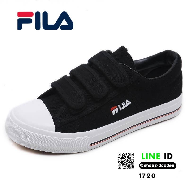 รองเท้าผ้าใบแฟชั่น Style FILA สายรัดเมจิกเทป 1720-BLK [สีดำ]