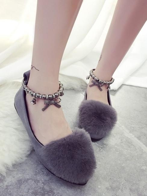 รองเท้าคัชชู STYLE KOREA (สีเทา)