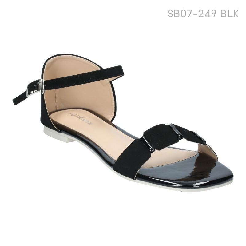 ลดล้างสต๊อก รองเท้าส้นแบน SB07-249-BLK [สีดำ]