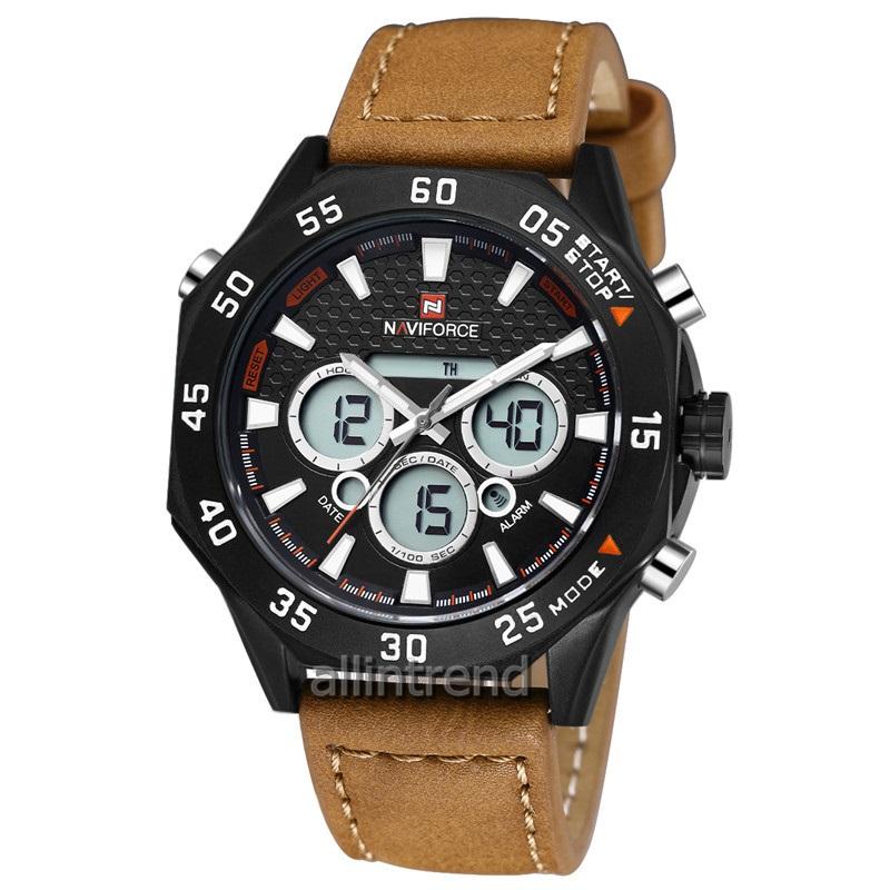 นาฬิกา Naviforce รุ่น NF9043M สีน้ำตาล ของแท้ รับประกันศูนย์ 1 ปี ส่งพร้อมกล่อง และใบรับประกันศูนย์ ราคาถูกที่สุด