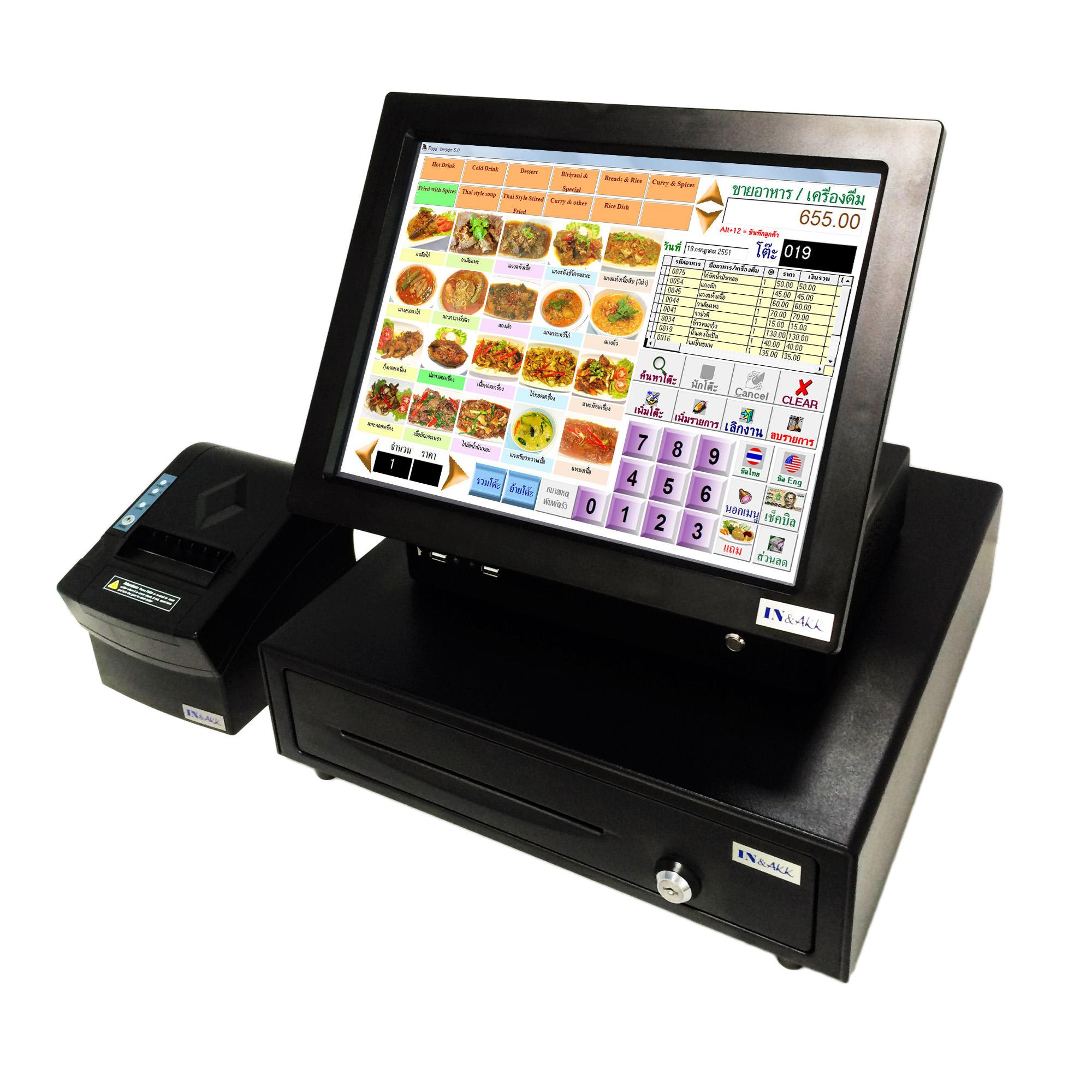 ชุดกลาง 31,500 บาท สำหรับร้านอาหาร/คาเฟ่ ใช้งานได้ทันทีโดยไม่ต้องซื้อเพิ่ม (IN-SETE)