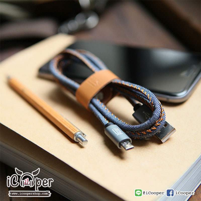 MAOXIN Denim Charge/Sync Cable (iPhone/iPad)
