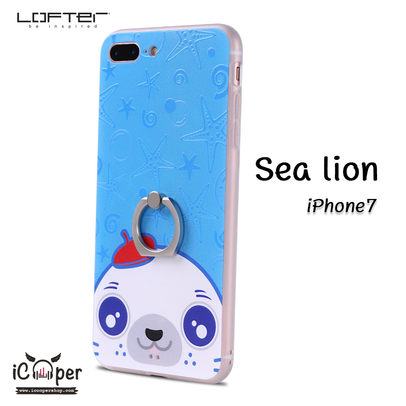 LOFTER iRing Cartoon Case #1 - Sea Lion (iPhone7)