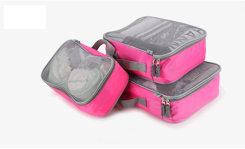 กระเป๋าใส่เสื้อผ้า SIZE S สีชมพู