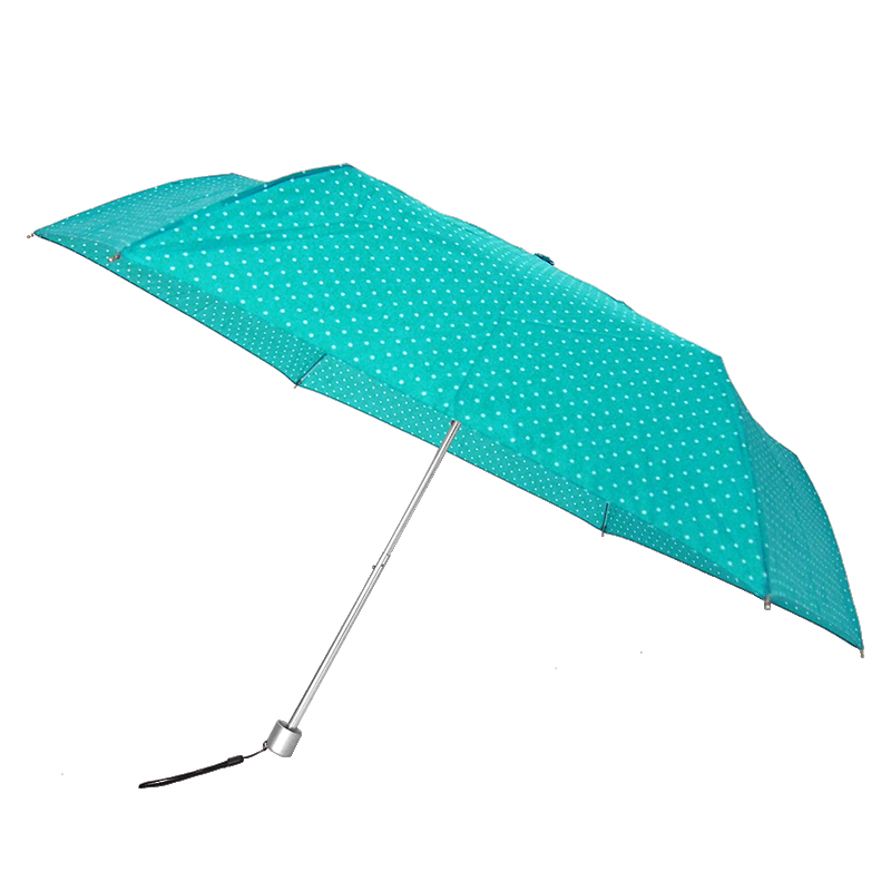 Waterfront Spot Air Folding Umbrella ร่มพับน้ำหนักเบาจุดๆ - สีฟ้าน้ำทะเล