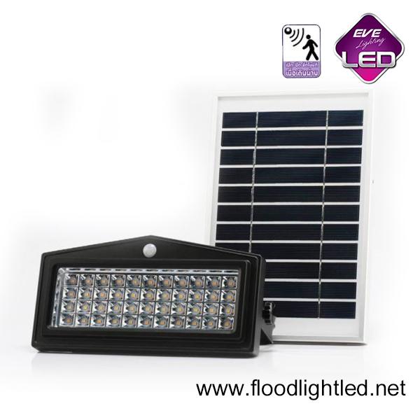สปอร์ตไลท์ LED โซล่าเซลล์ 5w รุ่น WSL-04 ยี่ห้อ EVE (แสงส้ม)