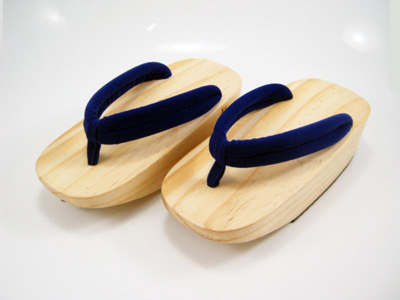 Fit Geta-06 รองเท้าเกี๊ยะไม้ธรรมชาติ เชือกน้ำเงิน