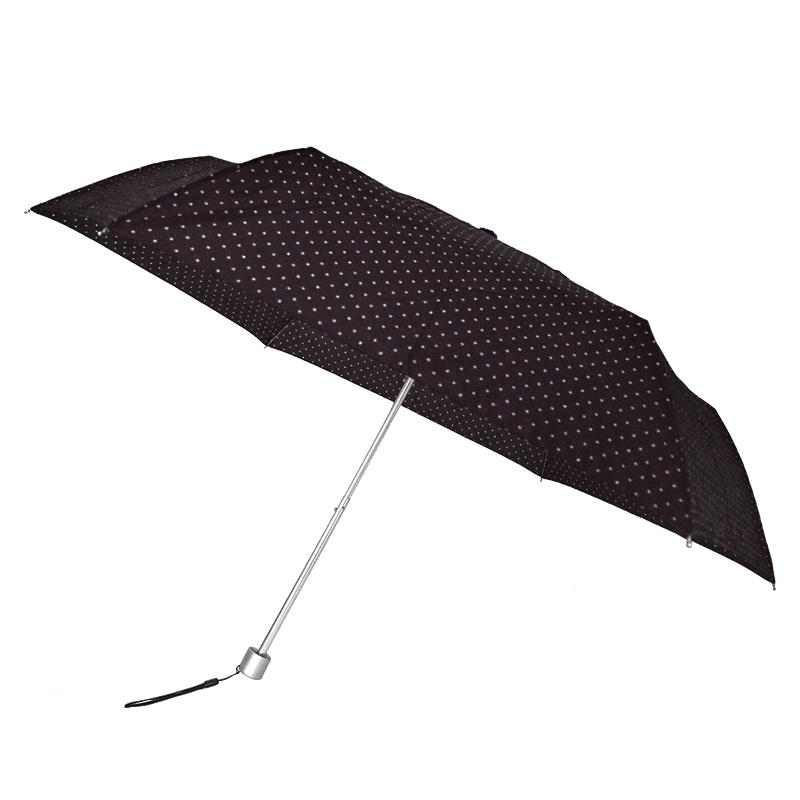 Waterfront Spot Air Folding Umbrella ร่มพับน้ำหนักเบาจุดๆ - ดำ