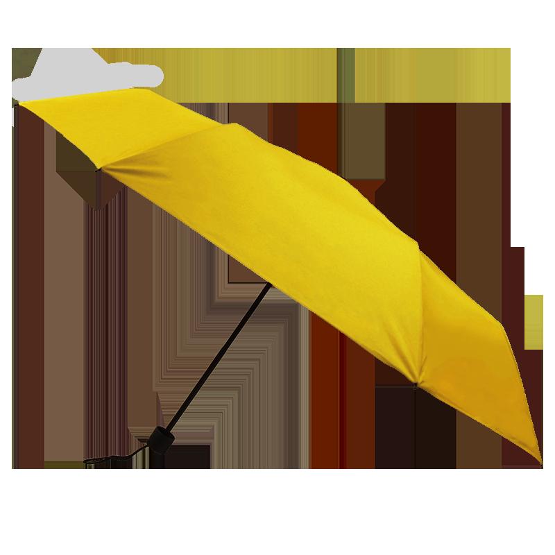 Silver Coating Folding ร่มพับ3ตอนเคลือบเงินป้องกันรังสียูวี - สีเหลือง