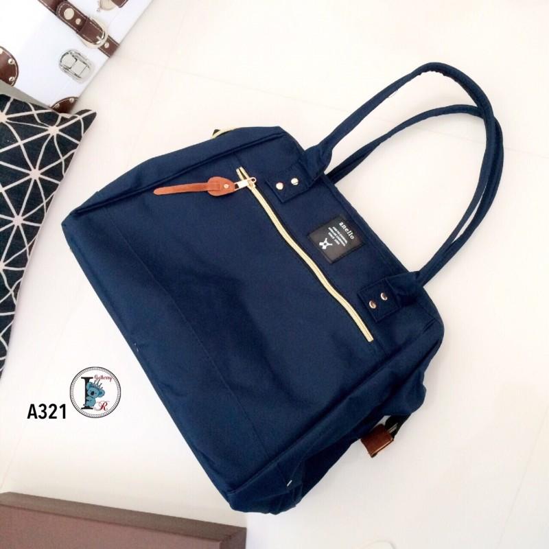 กระเป๋าสะพายแฟชั่น กระเปาสะพายข้างผู้หญิง ถือหรือสะพายไหล่ก็ได้ สไตล์แบรนด์ดัง Anello [สีกรม ]