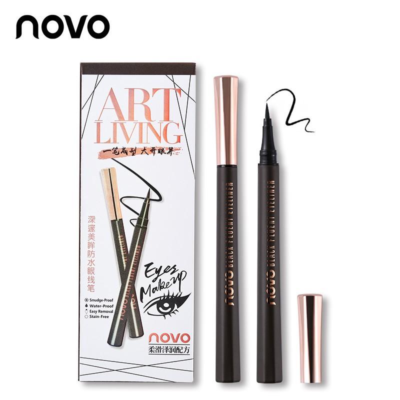 Novo ART LIVING Black Fluent Eyeliner อายไลน์เนอร์ ชนิดปลายพู่กัน สีดำ