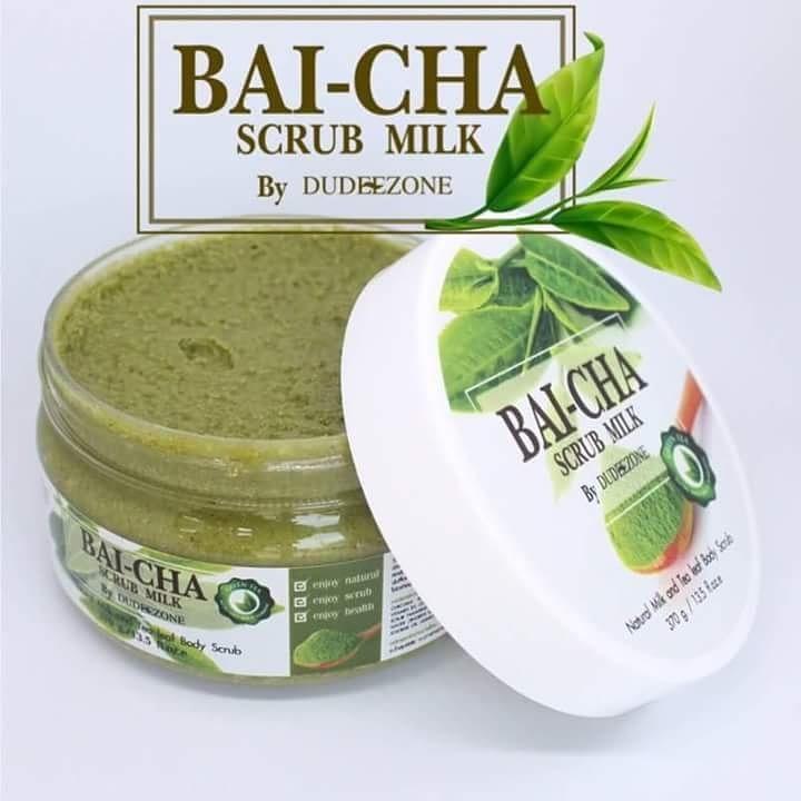 Bai-Cha Scrub Milk สครับน้ำนมใบชา