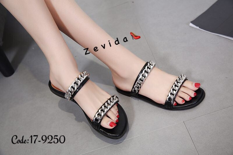 พร้อมส่ง รองเท้าแตะ 17-9250D4-BLK [สีดำ]