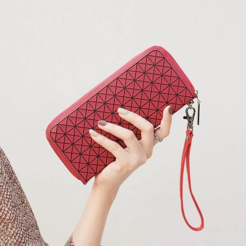 กระเป๋าตัง กระเป๋าเงินผู้หญิง BaoBaoบล็อกเล็ก โลโกสี่ด้าน [สีแดง ]