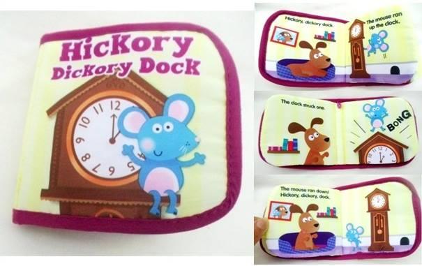 หนังสือผ้า Hickory Dickory Dock by Kids books