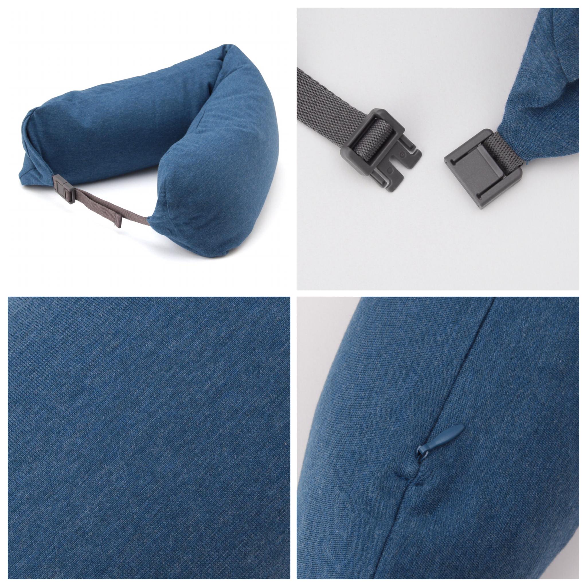 หมอนรองคอ MUJI สีฟ้า