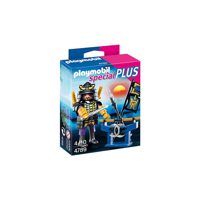 PLAYMOBIL 4789 Samurai with Weapon Stand
