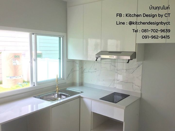 Modern Glossy White Kitchen (ชุดครัวบิ้วอินสีขาวเงาสไตล์โมเดิร์น)