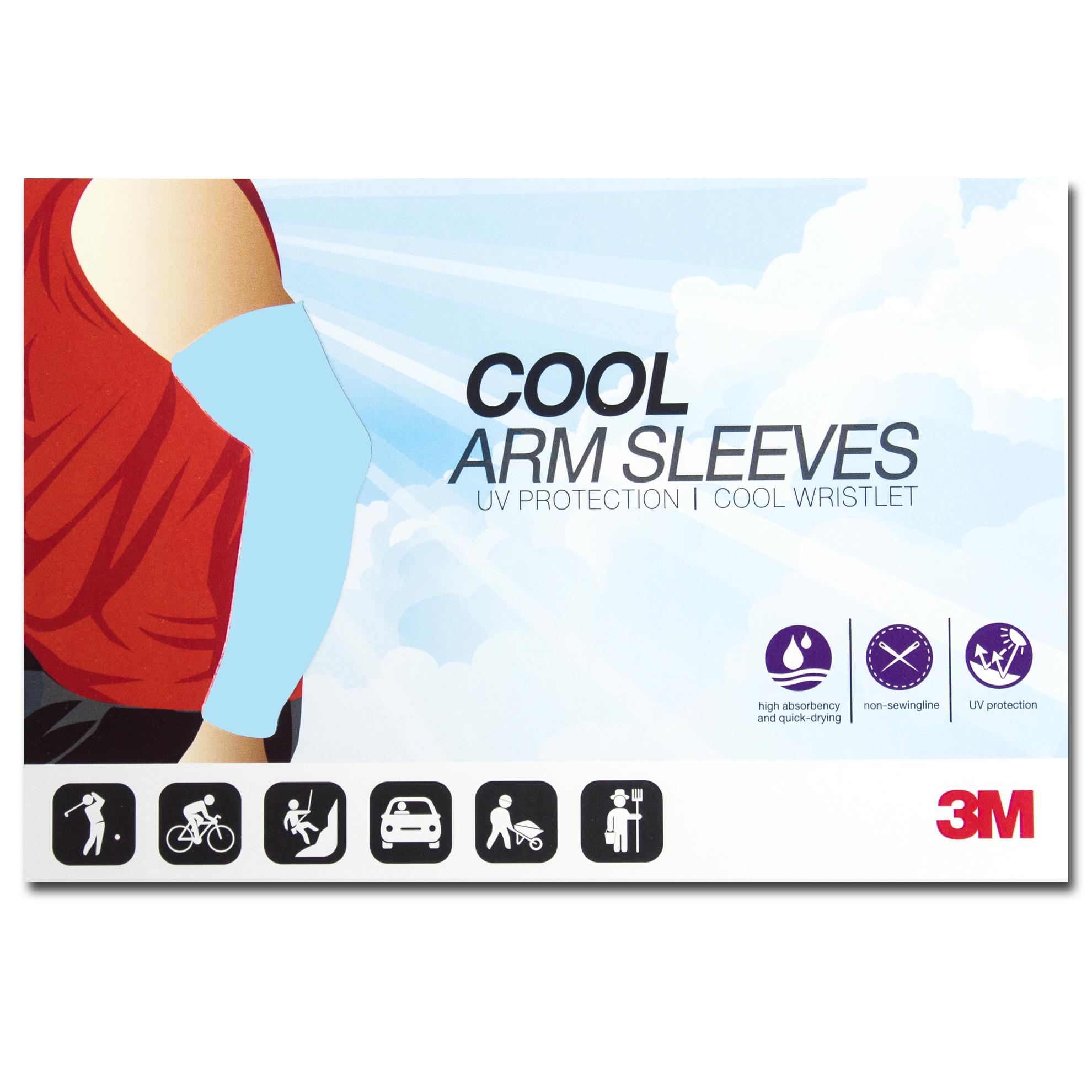 ปลอกแขนกันแดด 3M สีฟ้าอ่อน ปลอกแขนกัน UV 99% Made in Korea