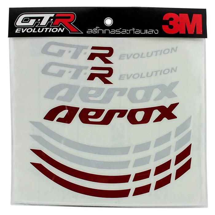 สติ๊กเกอร์ขอบล้อ GTR 14 นิ้ว AEROX155 ราคา650