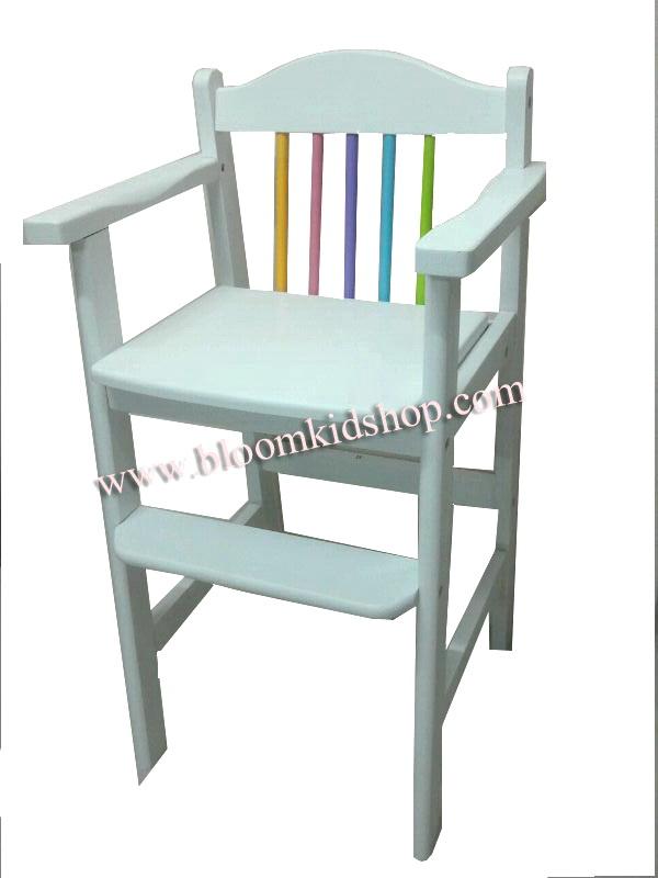 Junior High Chair เก้าอี้สูงเสริมสำหรับเด็กสีขาว
