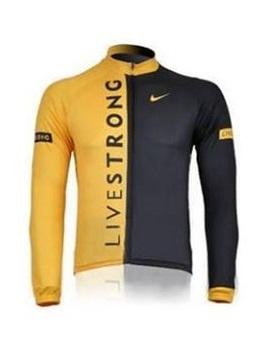 เสื้อปั่นจักรยาน แขนยาว LIVESTRONG สีเหลือง (แอดไลน์ @pinpinbike ใส่ @ ข้างหน้าด้วยนะคะ)