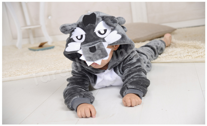 ชุดนอนมาสคอตเด็ก หมาป่า Size 105 (ขนาด 120 cm - 130 cm)