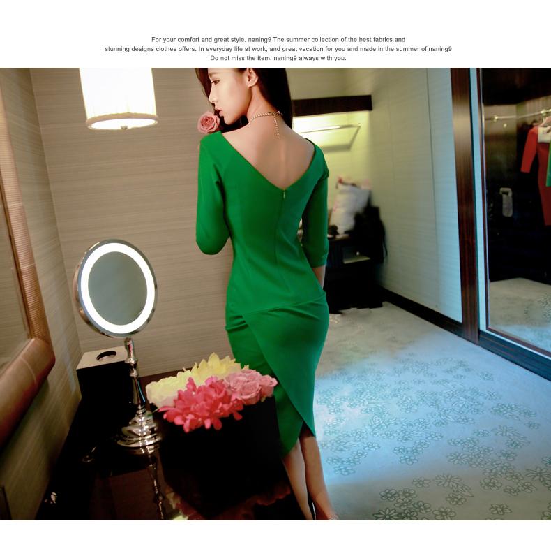 รับตัวแทนจำหน่ายชุดเดรสแฟชั่นเกาหลีสีเขียว