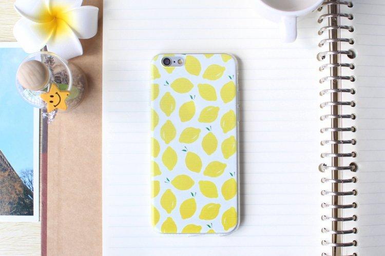 เคสลาย เลมอน (เคสยาง) - iPhone6+