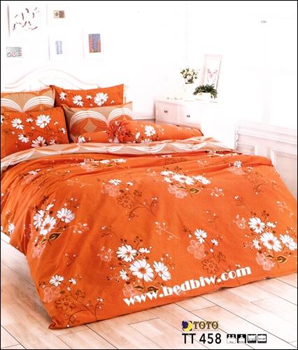 ผ้าปูที่นอนtoto ราคาถูก ลายดอกไม้น่ารัก TT458