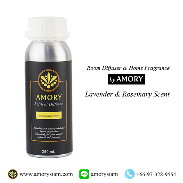 กลิ่น Lavender&Rosemarry 250 ml. Refilled diffuser รีฟิลน้ำหอมอโรม่าปรับอากาศ