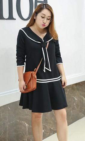 ชุดเดรสสาวอวบเกาหลีไซส์ใหญ่