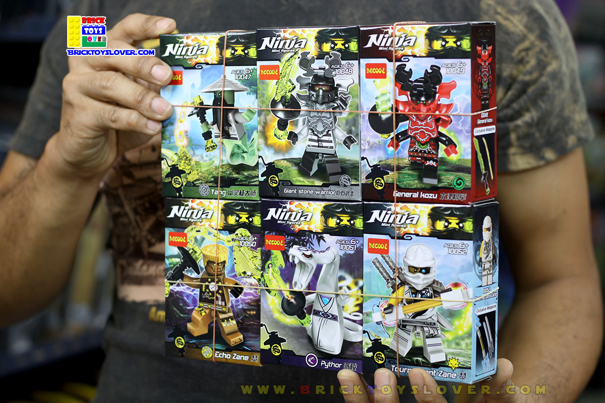 10047-052 มินิฟิกเกอร์ Ninjago เซ็ต 6 กล่อง