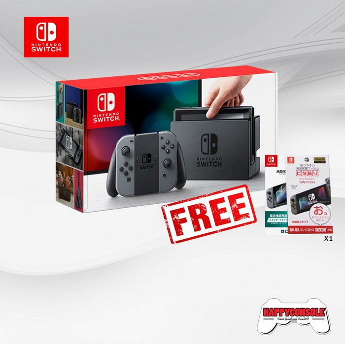 Nintendo Switch (Gray) + ฟิล์มกันรอย Screen Protector