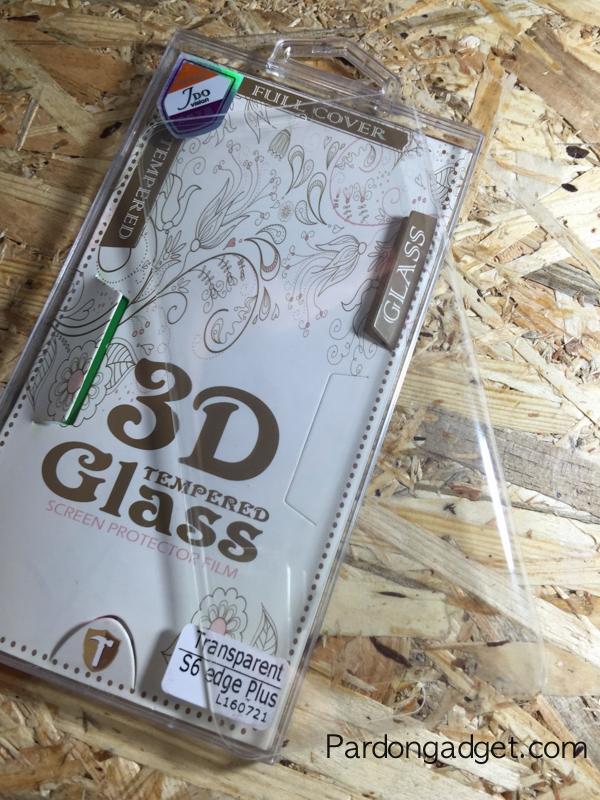 ฟิล์มกระจก S6 Edge Plus เต็มจอสีใสเต็มแผ่น