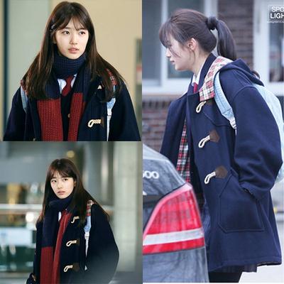 เสื้อโค้ทแจ็คเก็ตเกาหลี โนอึล Uncontrollably Fond สีน้ำเงินเข้ม