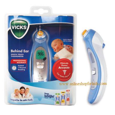(มือสอง) เครื่องวัดอุณหภูมิไข้หลังใบหู Vicks Behind Ear Thermometer, V980