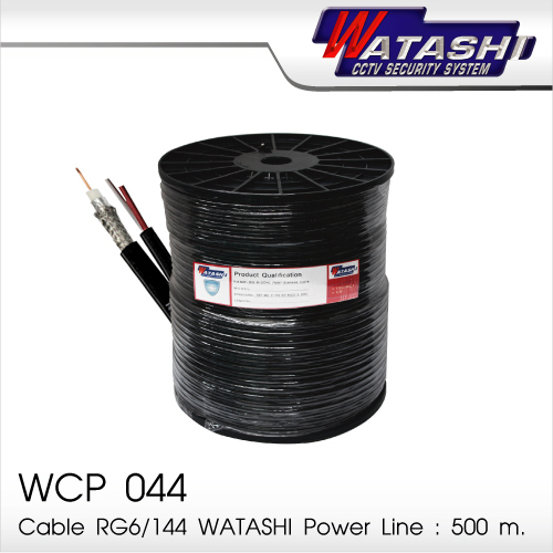 Cable 500M RG6/168 WATASHI Power Line#WCP044 (Black)