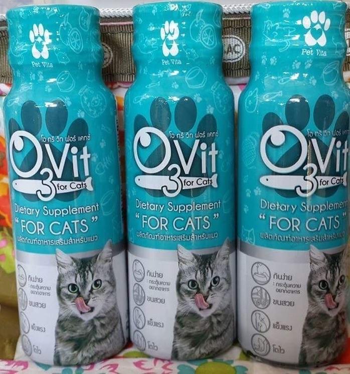 โอทรีวิท วิตามินสำหรับแมว 3ขวด200รวมส่ง