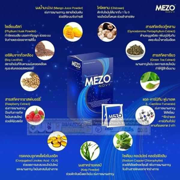 ส่วนประกอบของ mezo novy