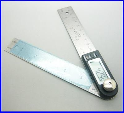 ไม้บรรทัด เครื่องวัดองศาดิจิตอล มิเตอร์วัดองศา มิเตอร์วัดองศาดิจิตอล 360 องศา ความละเอียด0.05องศา 2in1 Digital Angle Finder Meter