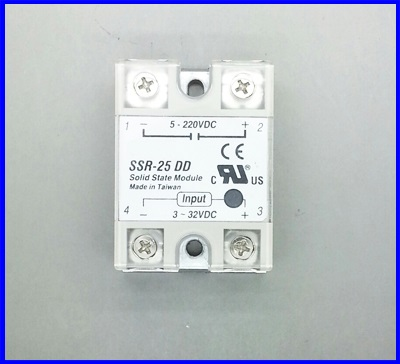 โซลิดสเตตรีเลย์ 25A solid state relay SSR-25DD 25A actually 3-32V DC TO 5-220V DC