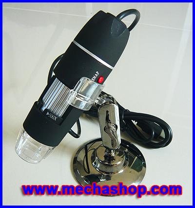 กล้อง ไมโครสโคป USB Microscope 50X - 500X ความละเอียด 2.0 M (ขาตั้งสั้น พร้อมซอฟแวร์วัดขนาด)