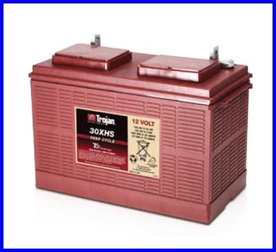 แบตเตอรี่ TROJAN แบตเตอรี่สำหรับการใช้งานระบบพลังงานทดแทน ชนิด Deep cycle battery 12V 130AH คุณภาพสูง ผลิตในประเทศอเมริกา TROJAN 30XHS