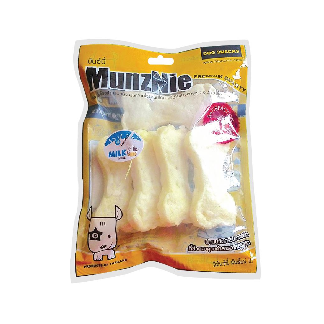 ขนมสุนัข MUNZNIE ครันชี่โบน รสนม 5 ชิ้น